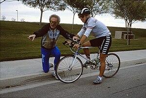 John Howard (cyclist) - John Howard instructs Paula Newby-Fraser, Encinitas, California, 1991