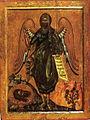 John the Angel of Desert, school of Andreas Ritzos (16th c, Pushkin museum).jpg
