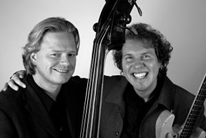 Frode Barth - Harald Johnsen and Frode Barth at photoshoot for their record Blue Spheres.
