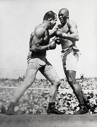 Jack Johnson (boxer) - James J. Jeffries fights Johnson in 1910