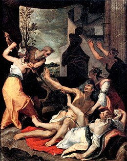 Joos van Winghe - Phinehas slaying Zimri and Kozbi the Midianite.jpg