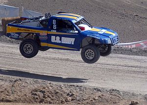 Championship Off-Road Racing - Josh Baldwin competes in the Pro-2 series during the 2005  Nissan Nationals at the Chula Vista International Raceway in Chula Vista, Calif., courtesy of U.S. Navy