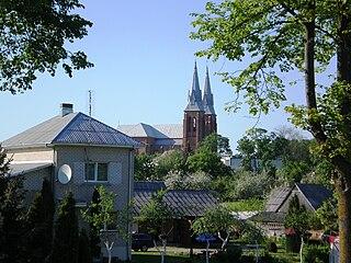 Josvainiai Town in Aukštaitija, Lithuania
