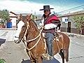 Joven de Vicuña, Chile, vestido de huaso para las celebraciones conmemorativas del Combate Naval de Iquique.jpg