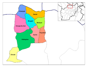 Jowzjan Province - Districts of Jozjan.