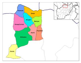 Jowzjan Province - Districts of Jozjan.