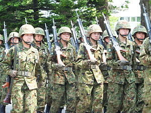 Women in the military by country - Female candidates of the Japan Self-Defense Forces (2011).