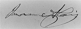 Juan Alais - Image: Juan Alais (firma)
