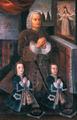 Juan Pío de Montúfar y Frasso, I marqués de Selva Alegre, y sus hijos mayores Juan Pío y Pedro.png