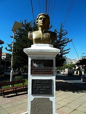 Juana Azurduy de Padilla - Bust of Juana Azurduy in Bolivia.