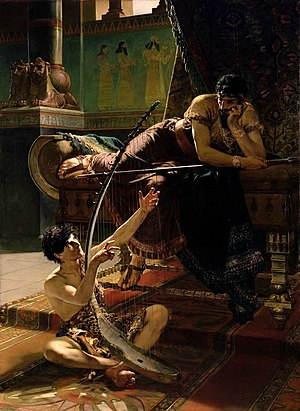 Saul - David and Saul (1885) by Julius Kronberg.
