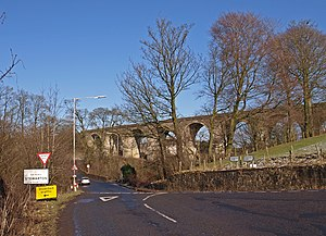 Stewarton - Image: Junction A735, Stewarton geograph.org.uk 1713646