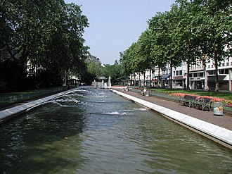 Cologne Ring - fountains at Kaiser-Wilhelm-Ring, 2008