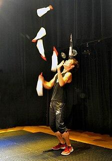 Flair bartending juggling-type entertainment performed by bartenders