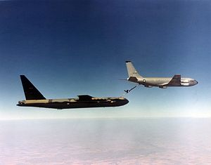 322d Expeditionary Reconnaissance Squadron - KC-135A refuels B-52D during Vietnam War
