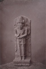 KITLV 87585 - Isidore van Kinsbergen - Sculpture of Shiva from the Dijeng plateau - Before 1900.tif