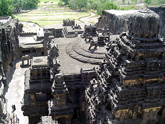 Kailasa temple, Ellora - Shiva temple from top of rock