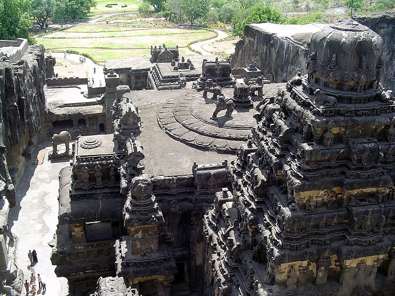 Archivo: Kailasha templo en ellora.JPG