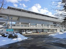 Kaiseizan Athletics Stadium in Snow.jpg