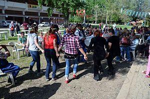 Kakava - Dancing women to Roma music during Kakava 2015 in Edirne.
