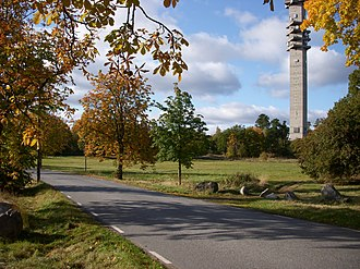 Kaknäs - The Kaknäs area at Kaknäsvägen road, with Kaknästornet in the background.