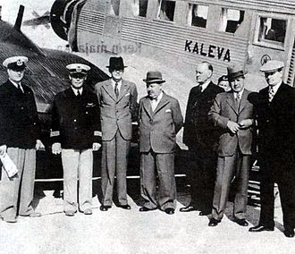 Estonia in World War II - Kaleva airplane and its crew before the incident