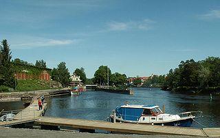 Säffle Place in Värmland, Sweden