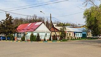 Kant, Kyrgyzstan - Image: Kant near Bishkek 03 2016 img 01 surroundings of the railway station
