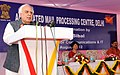Kapil Sibal addressing at the inauguration of the 'Automated mail Processing Centre (AMPC) Delhi', in New Delhi on August 21, 2012. The Secretary (Posts) & Chairman, PS Board, Ms. Manjula Prasher is also seen.jpg