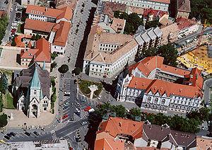 Somogy County - Aerial photograph of Kaposvár.