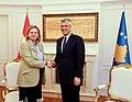 Karin Kneissl trifft Kosovos Präsident Hashim Thaci.jpg