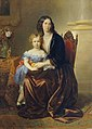Karl von Blaas - Leonie Gräfin Lanckorońska, geb. Gräfin Potocka, mit ihrem Sohn Karl - 5983 - Österreichische Galerie Belvedere.jpg