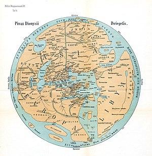 Dionysius Periegetes - Karte Dionysius