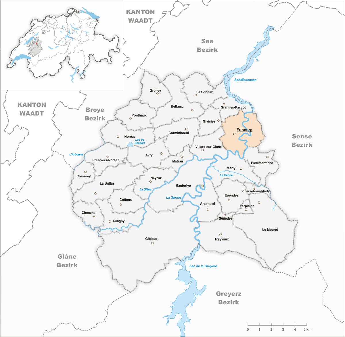 Freiburg Karte Stadtteile.Freiburg Im üechtland Wikipedia