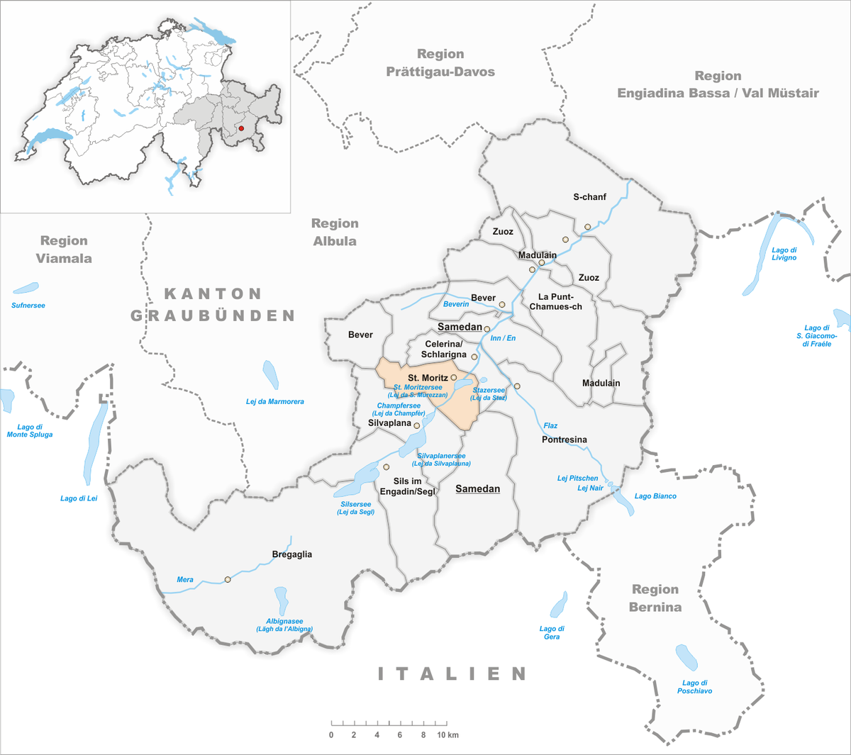 engadin karte St. Moritz – Wikipedia