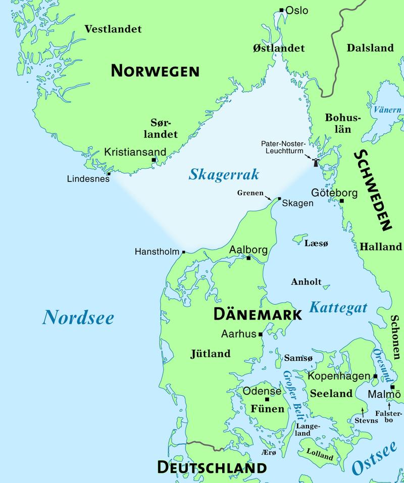 Karte von Skagerrak