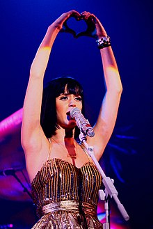Katy Perry nel 2009 a Pontiac, Michigan