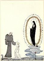 Kay Nielsen - East of the sun and west of the moon - the lassie and her godmother - here are your children I am the Virgin Mary.jpg