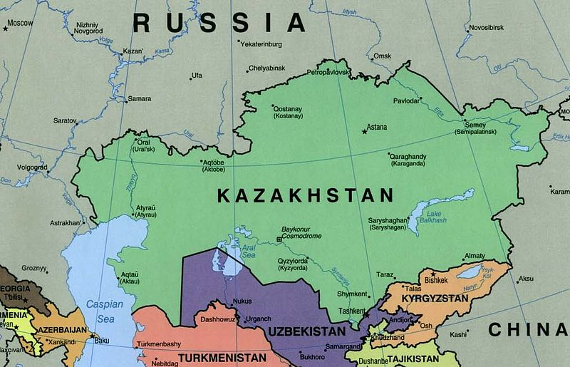 Image result for kazakhstan map wiki