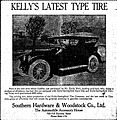 Kellys Latest Type Tire on Emile Weil Cadillac New Orleans 1916.jpg