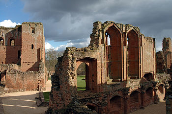 Kenilworth Castle, Keep on the left and window...