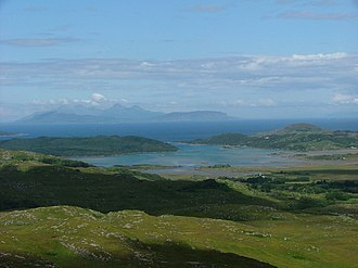 Kentra Bay - Image: Kentra Bay and the Small Isles from Cruach Bhreac geograph.org.uk 1404271