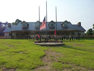 Kia Kima Scout Reservation - Flag ceremony in Camp Osage.