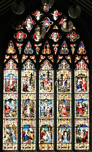 Black Abbey - Image: Kilkenny Black Abbey Rosary Window 2007 08 29
