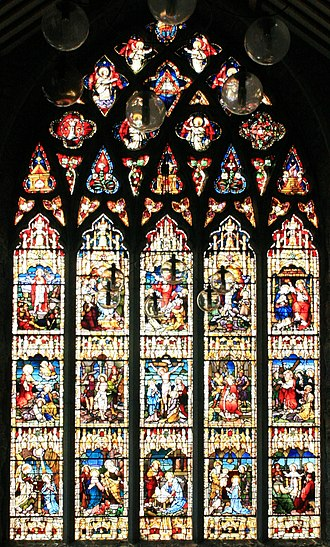 Black Abbey - Image: Kilkenny Black Abbey Rosary Window 2007 08 29