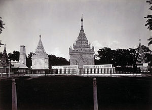 Mindon Min - King Mindon's tomb in Mandalay in 1903.