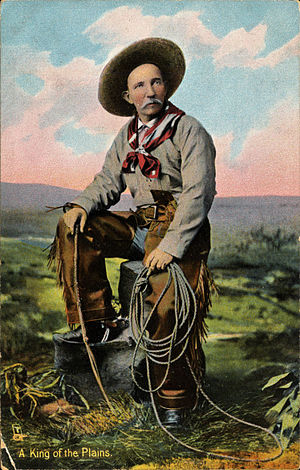 "Cowboy - ""King of the Plains"" postcard, 1898–1924"