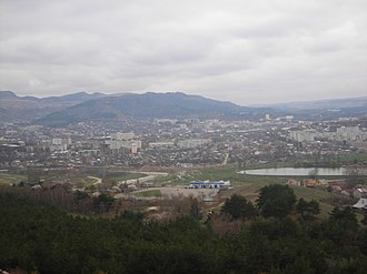 Kislovodsk - Panoramic view of Kislovodsk from Mount Koltso-gora