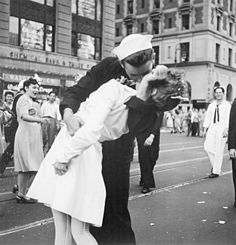 Victor Jorgensen's photo published in The New York Times Kissing the War Goodbye.jpg
