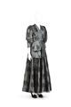 Klänning av ljusblått siden med svart broderad tyll - Hallwylska museet - 90076.tif